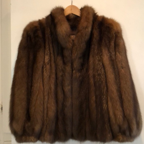 Sable Fur Coat >> Roberts Of San Francisco Jackets Coats Authentic Dark Brown